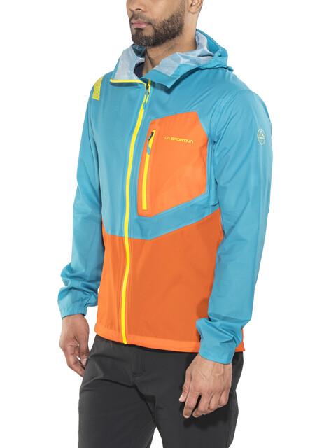 La Sportiva M's Hail Jacket Tropic Blue/Lava